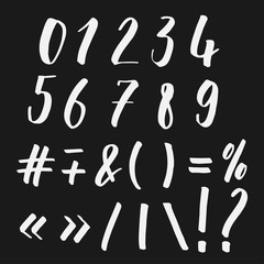 Numbers and symbols lettering