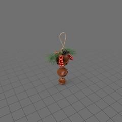 Hanging holiday bells