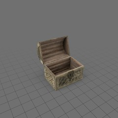 Open medieval chest