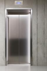 Closed lift or elevator doors