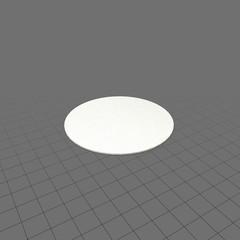 Single round paper coaster