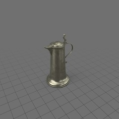 Thin pewter pitcher with lid