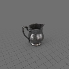 Round pewter pitcher 2