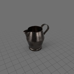 Round pewter pitcher 1