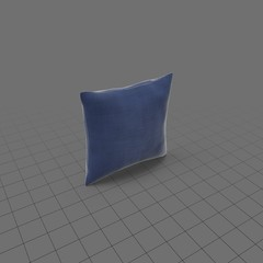 Square blue throw pillos