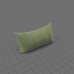 Propped up green throw pillow 2