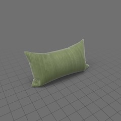 Propped up green throw pillow 1
