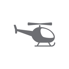helicopter icon. Simple Set of Transport Vector Line Icons.
