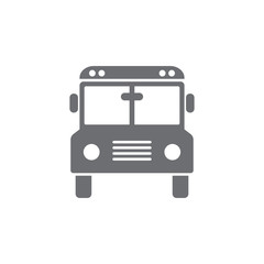 Truck icon. School bus illustration. Simple Set of Transport Vector Line Icons.