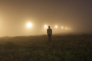 Man into the fog