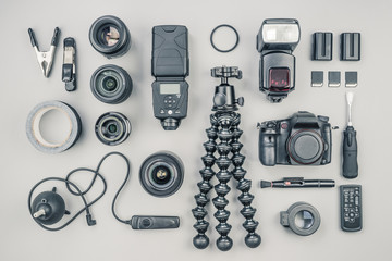 Collection of Professional Photographic Equipment
