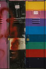 graffiti in the lockers college