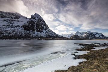 Frozen lake in Norway