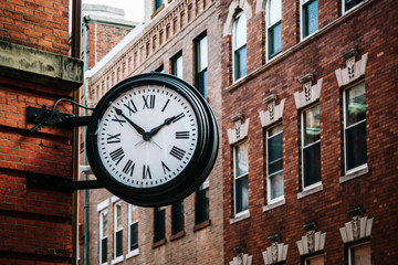 Clock in Boston