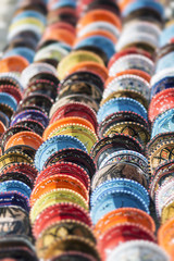 colorful decorative plates on the Arab market