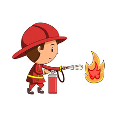Child firefighter fire extinguisher