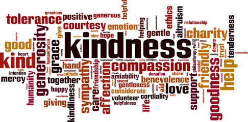 Kindness word cloud