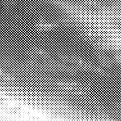 Vector abstract dotted background. Black and white halftone effect vector illustration.