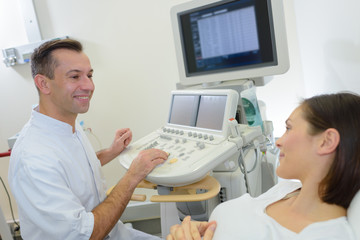 radiologist chatting with a patient
