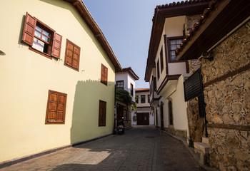 Narrow streets of old Antalya