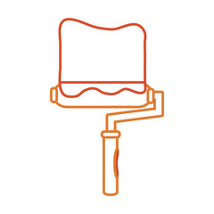 paint roller vector illustration