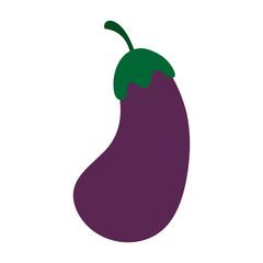 eggplant aubergine vegetable icon image vector illustration design