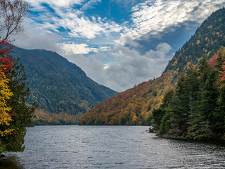 View of Lower Ausable Lake in Adirondacks