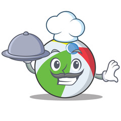 Chef ball character cartoon style