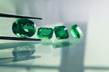 emeralds and gemstone  jade