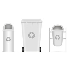Recycle bins for trash and garbage. Vector