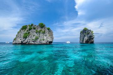 Beautiful seaview of Koh Ha,  near Lanta Island of Krabi province, Thailand