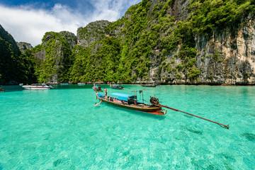 Beautiful crystal clear water at Pileh bay at Phi Phi island near Phuket, Thailand