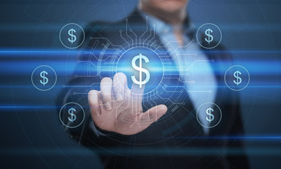 Dollar Currency Business Banking Finance Technology Concept