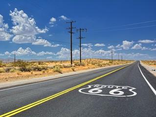 Fotobehang Route 66 U.S. Route 66 highway.