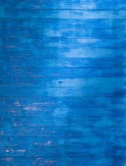 Blue Barn.Fresh blue paint on a wooden surface,rustic turquoise background.Abstract Web Banner.