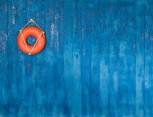 wooden blue marine background