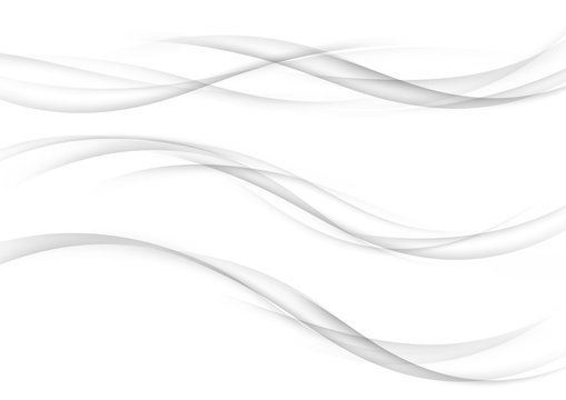 Modern futuristic soft smoke gradient flow lines collection