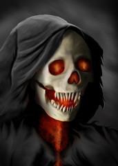 A grim reaper, spirit, hooded evil type character. Original digital painting.