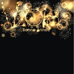 Hintergrund zum Jahreswechsel mit Feuerwerk