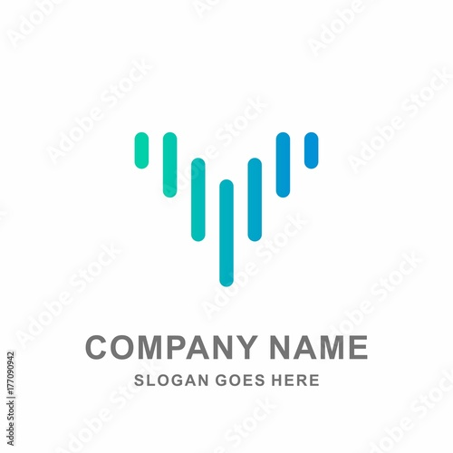 Geometric Bird Wings Flying Digital Technology Computer Business Company Stock Vector Logo Design Template