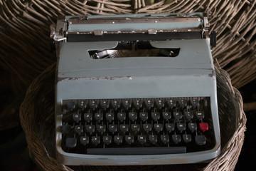antique typewriter with manual keys