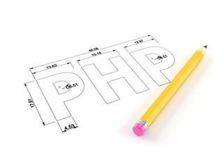 PHP plan with pencil