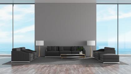 Modern interior living room wood floor with sofa set sea view summer 3d rendering.jpg
