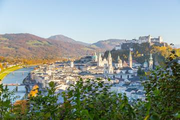 Salzburger Altstadt im Herbst