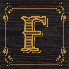 handcrafted vintage letter design