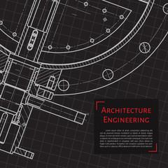 Engineer or architect illustration