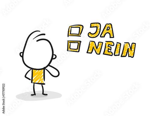 Strichfiguren Strichmannchen Wahl Ja Nein Nr 139 Stock