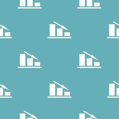 Down chart pattern seamless blue