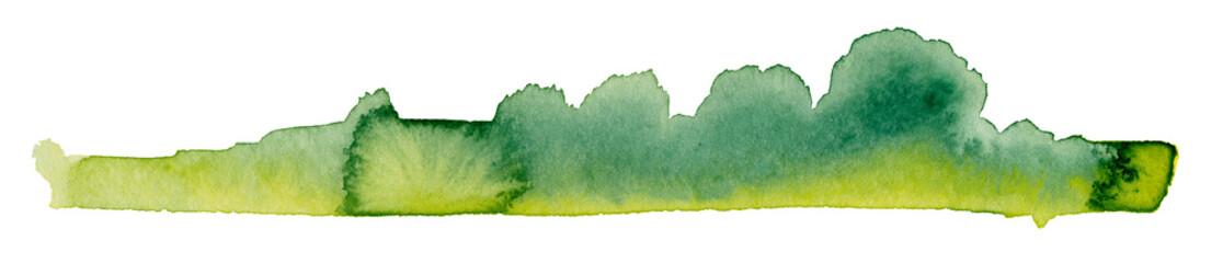 bushy watercolor painting