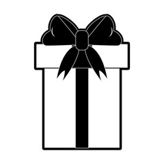 Gift box isolated icon vector illustration graphic design